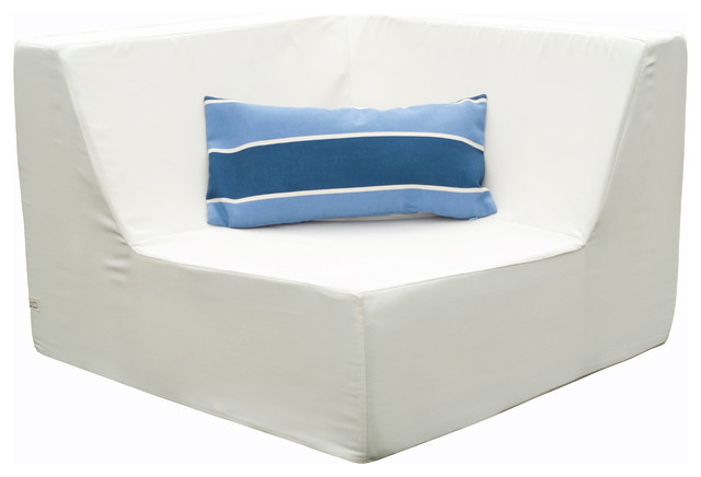 Lowboy Corner Lounge Chair Aruba Blue Contemporary
