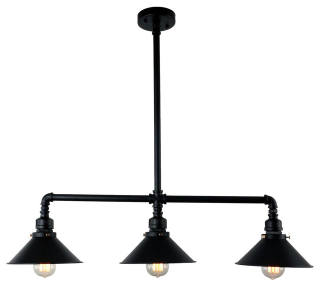 3 light black industrial pendant lamp light chandelier industrial 3 light black industrial pendant lamp light chandelier aloadofball Images