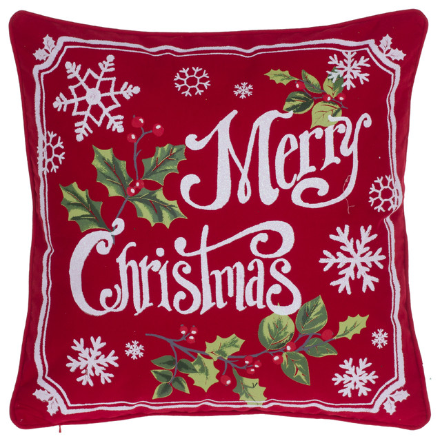 very merry christmas pillow