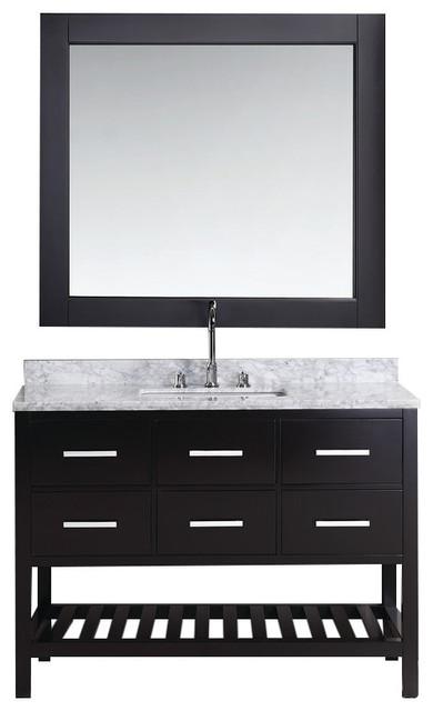 "London 48"" Single Sink Vanity Set In Espresso Finish."