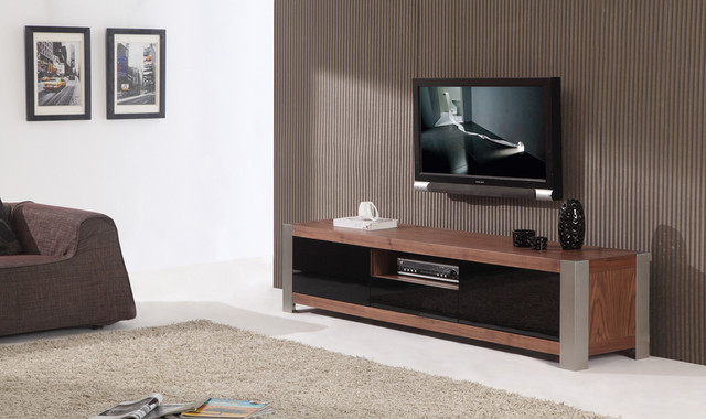 B-Modern | Coordinator Light Walnut Veneer TV Stand -$1460.00 ...