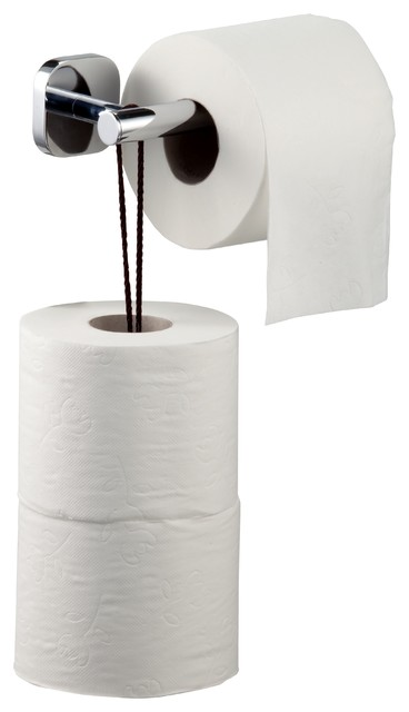 Basic Collection Wall Mounted Toilet Paper Holder With Roll Storage