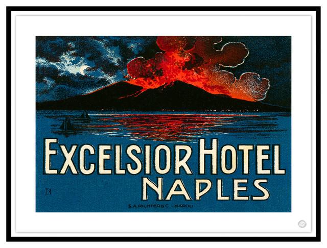 Contemporary Modern Transitional Fine Art,  EXCELSIOR HOTEL, NAPLES, Black Leaf