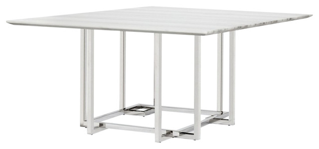 Elin Square Marble Dining Table