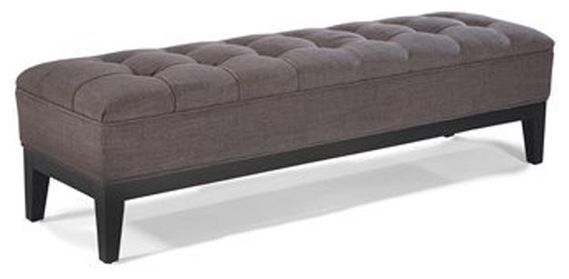 Moe&x27;s Home Capello Bench In Charcoal. -1