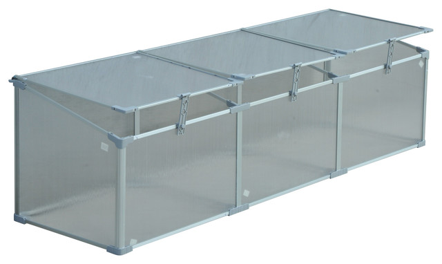 Outsunny 71 Aluminum Vented Cold Frame Greenhouse
