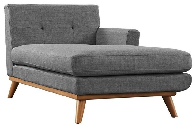 Hawthorne Collection Right Arm Chaise Lounge, Gray.