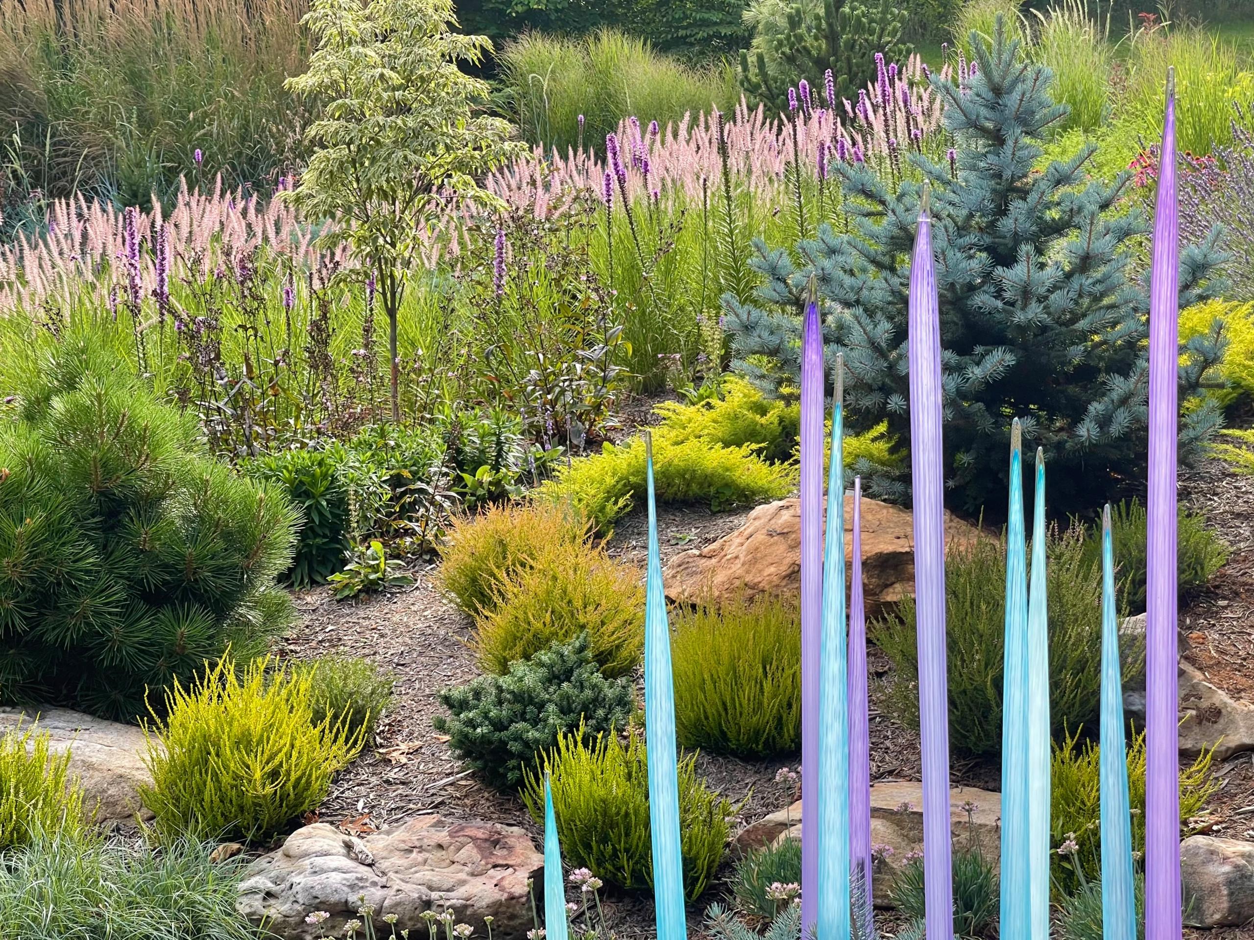 Glass spears, liatris and pennisetum