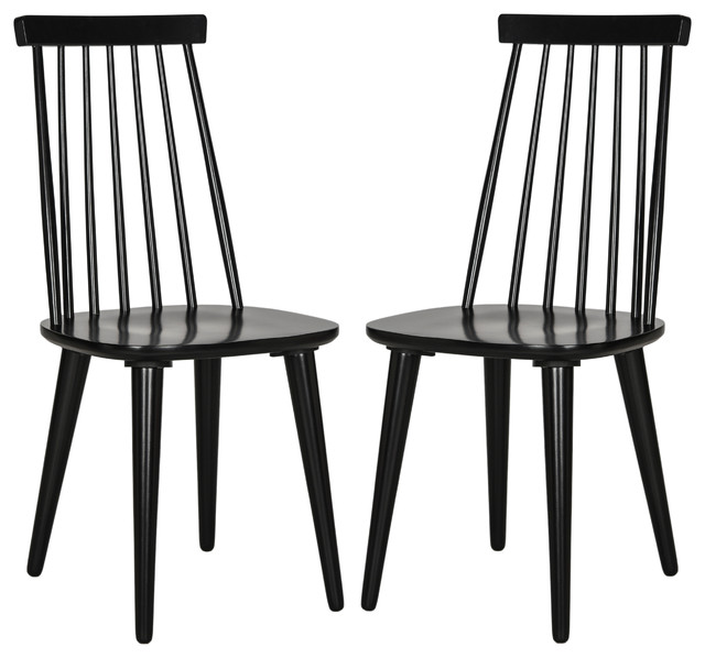 Safavieh Outdoor Living Cooley Black White Dining Set 5: Safavieh Burris Spindle Side Chair, Set Of 2