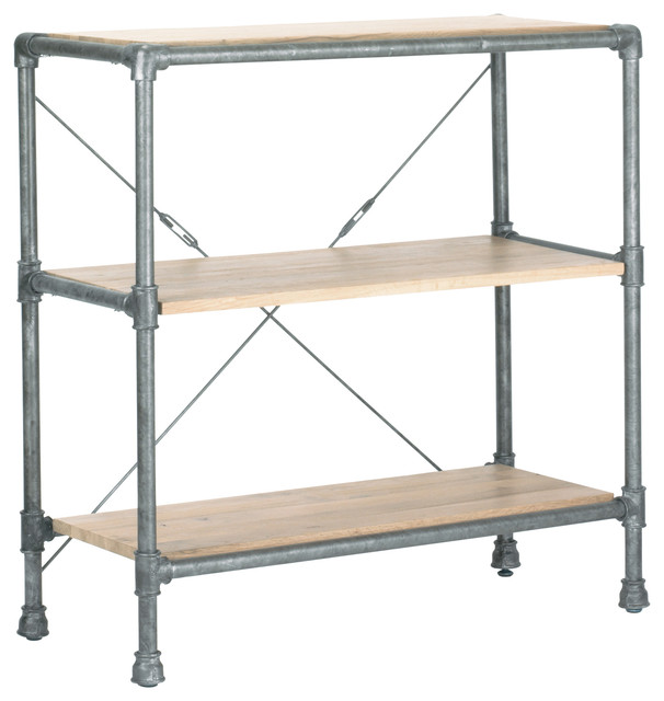 Griffin Short Bookshelf Industrial Display And Wall Shelves