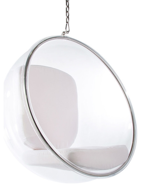 Iconic Bubble Hanging Chair, White by Eames Addict