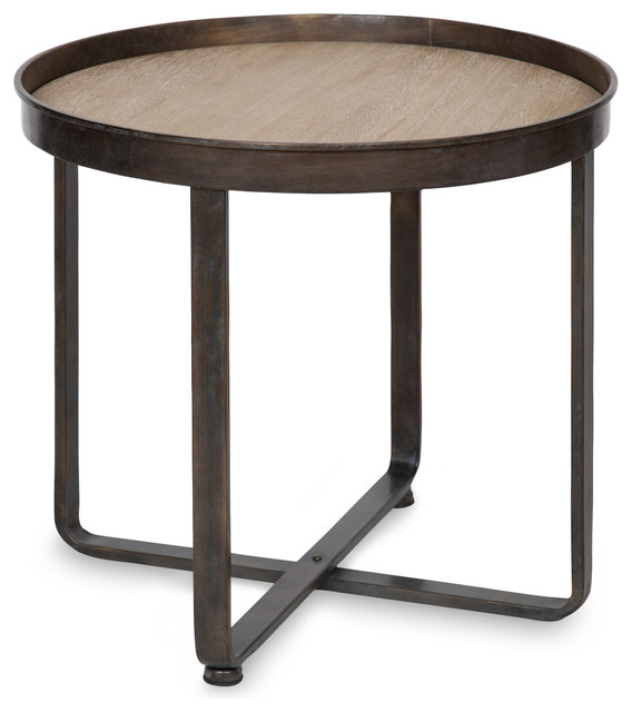 Zabel Round Metal End Table, Round Metal End Tables