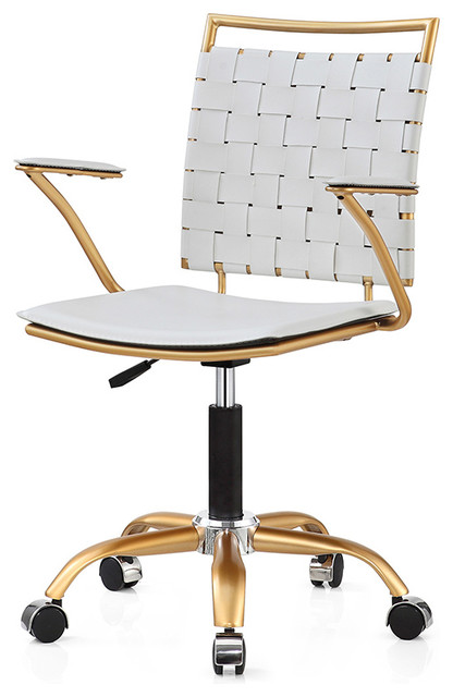 Tartan Office Chair Luxe White.