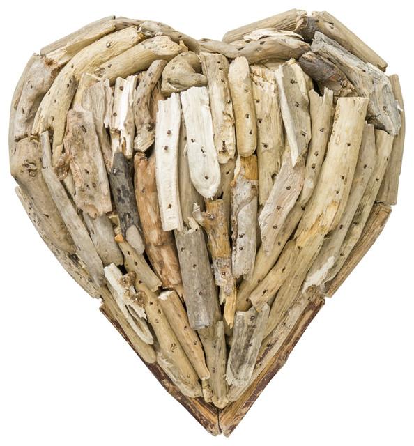 Driftwood Heart Wall Decoration, Natural, Small