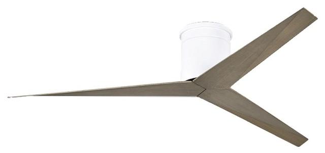 Matthews Fan Co Ekh-Wh-Ga Atlas Eliza Hugger 56 Ceiling Fan, White.