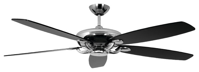 "60"" Avia Ceiling Fan, Stainless Steel."