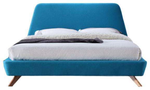 Attirant Henry Mid Century Modern Upholstered Platform Bed   Midcentury   Platform  Beds   By Omax Decor