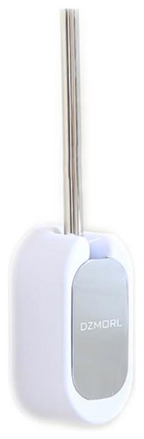Toilet Brush Long Handle Nylon Silk Brush Head Wall Hanging Models, , White B