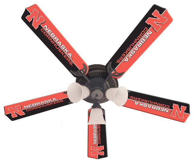 """Nebraska Cornhuskers 52"""" Ceiling Fan."""