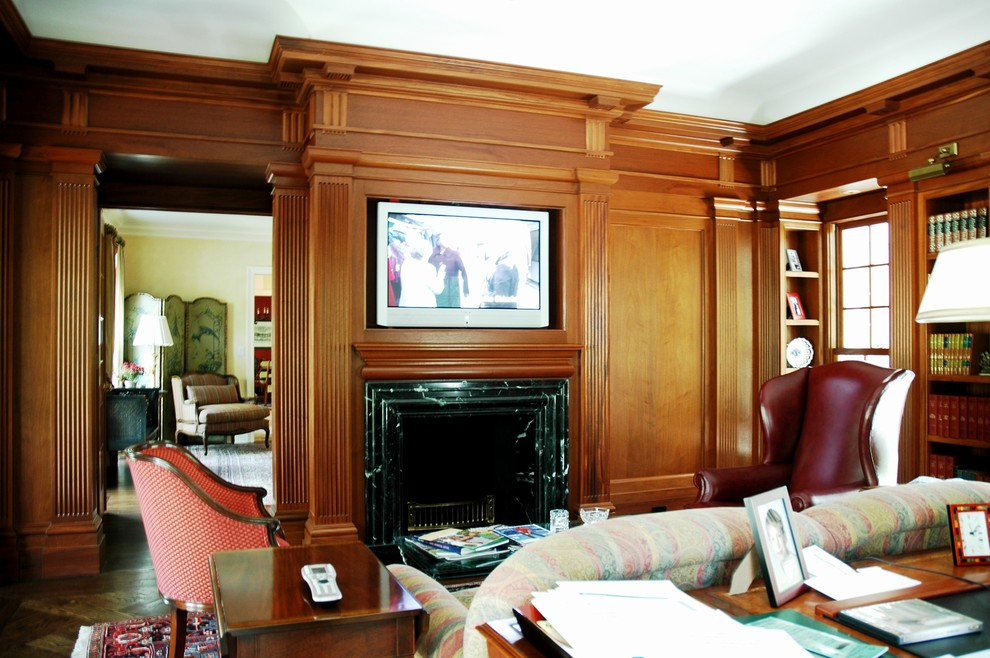 Concealed TV above Fireplace