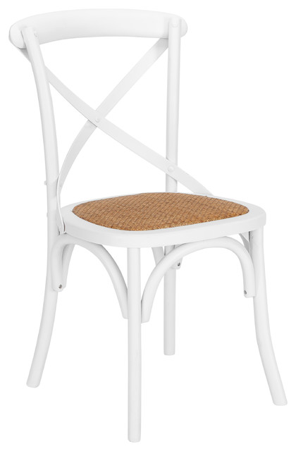 Poly and Bark Cafton Crossback Chair, White