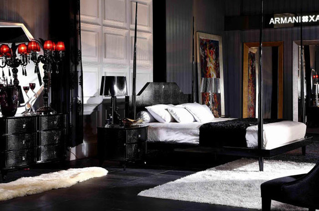 Armani Xavira Gothic Four-Poster Bedroom Set - $4965.05 - Modern ...