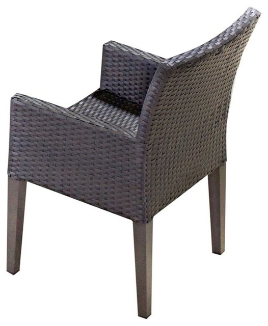 Tkc Napa Wicker Patio Arm Dining Chairs No Cushion Set Of 2