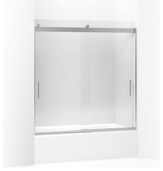 Kohler Levity Sliding Bath Door, With Crystal Clear Glass, Bright Polished Silve
