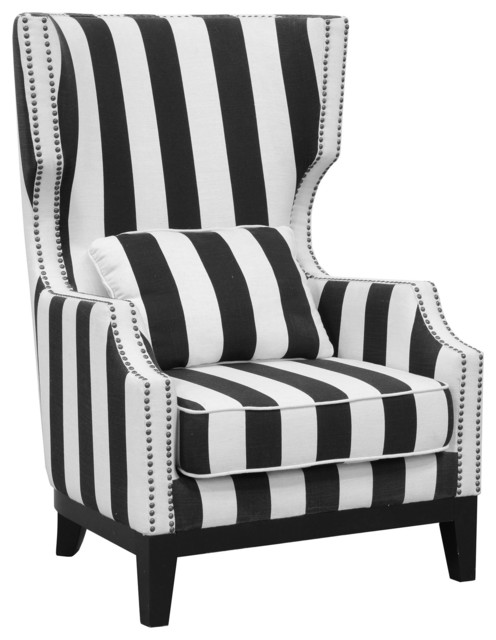 Kosas Sandy Club Chair Striped Armchairs And Accent