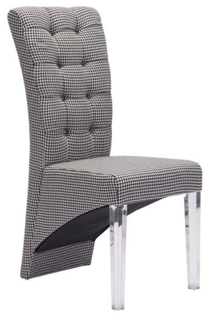 Brika Home Dining Chair Houndstooth Chairs