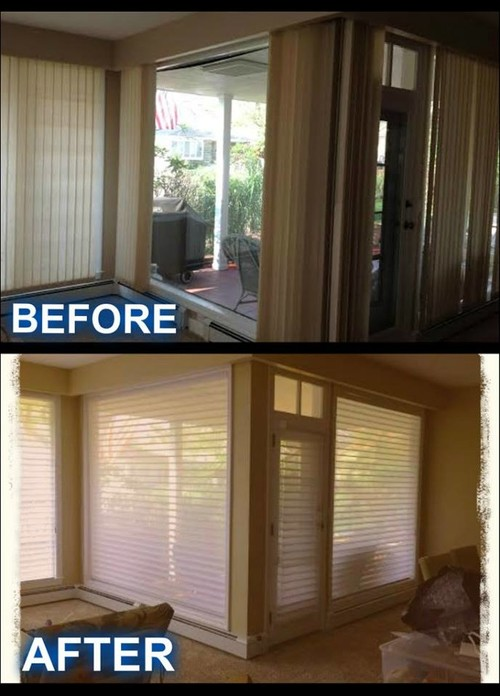 Went want your feedback on this job Home decorators blinds installation