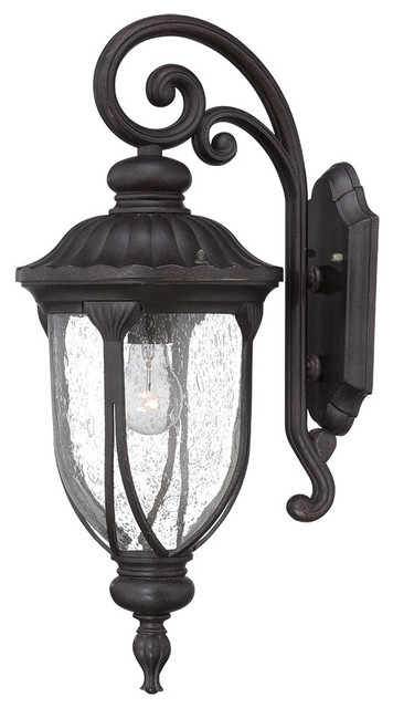 Laurens Collection Wall-Mount 1-Light Outdoor Light, Black Coral