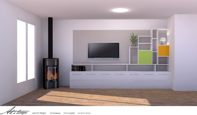 meuble tv sur mesure. Black Bedroom Furniture Sets. Home Design Ideas