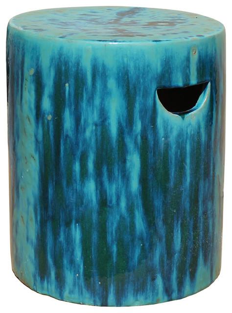 Awesome Chinese Ceramic Clay Turquoise Green Glaze Round Garden Stool Creativecarmelina Interior Chair Design Creativecarmelinacom