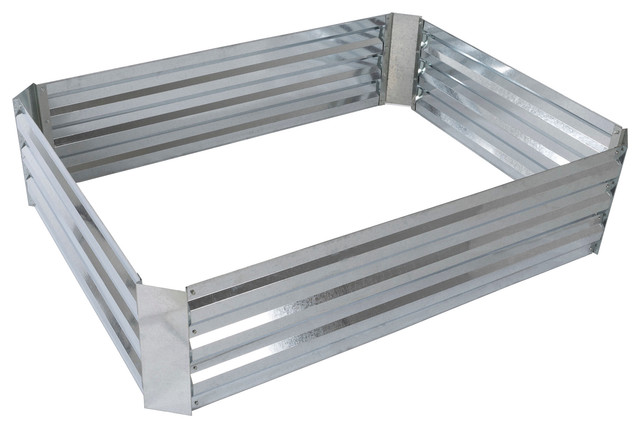 "Raised Garden Bed Kit With Adjustable Galvanized Iron 35.5""lx47.5""wx12""h."