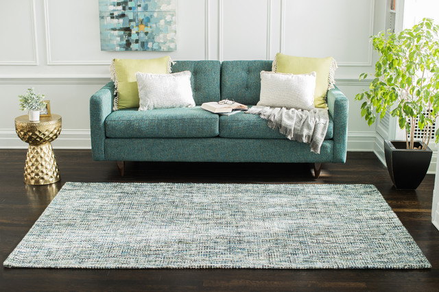 Oshun Flat Woven Area Rug Blue Contemporary Area Rugs By