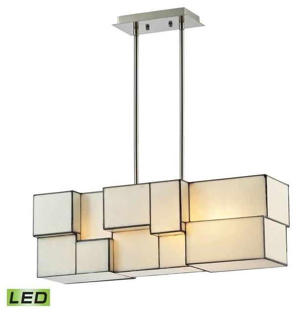 Elk Lighting 72063 4 Cubist Modern Chandelier In Brushed