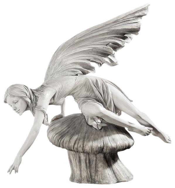 Design Toscano Daydream Fairy Sculpture Garden Statues And Yard