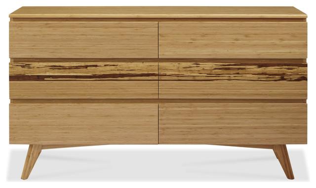 Azara Six Drawer Dresser, Caramelized.