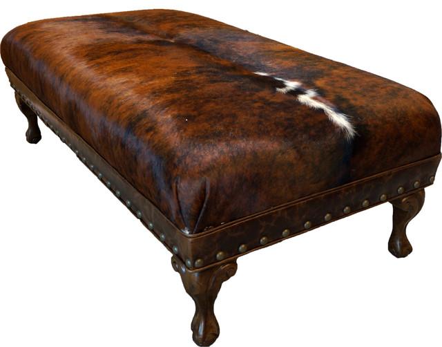 Awe Inspiring Amarillo Cowhide Ottoman Theyellowbook Wood Chair Design Ideas Theyellowbookinfo