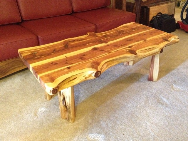 Solid red cedar quot rustic coffee table