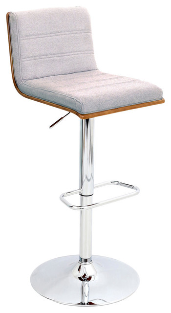 Vasari Height Adjustable Barstool With Swivel Walnut