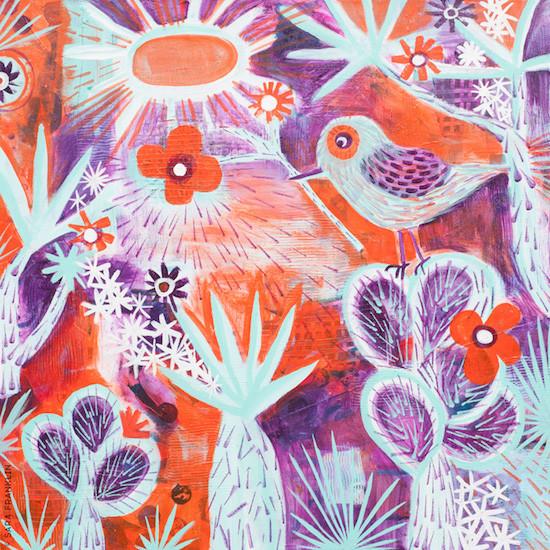 Desert Bird Painting