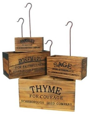 Vintage-style Nesting Herb Crates