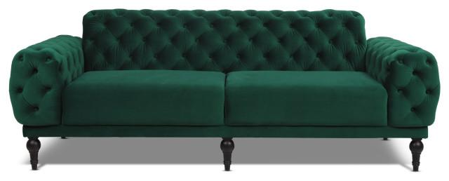 On Tufted Velvet Sofa