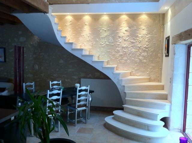 escalier voute sarrasine clermont ferrand par entre pierre et flamme. Black Bedroom Furniture Sets. Home Design Ideas