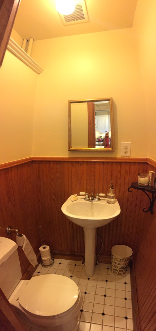 Should I paint the beadboard in my powder room?