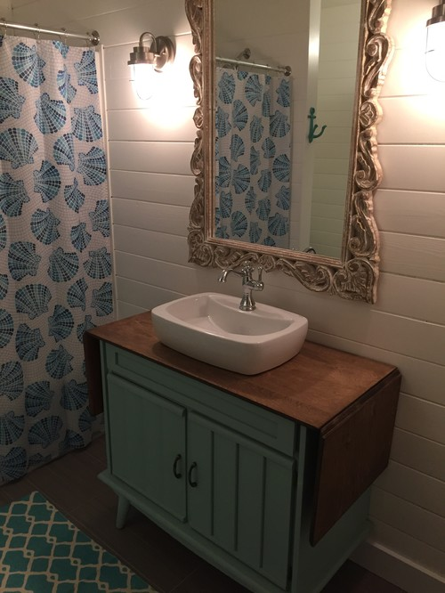 Before & After of Beach Cottage Bathroom