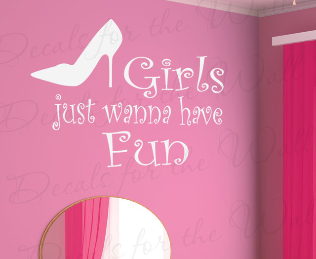Wall Decal Quote Sticker Girls Just