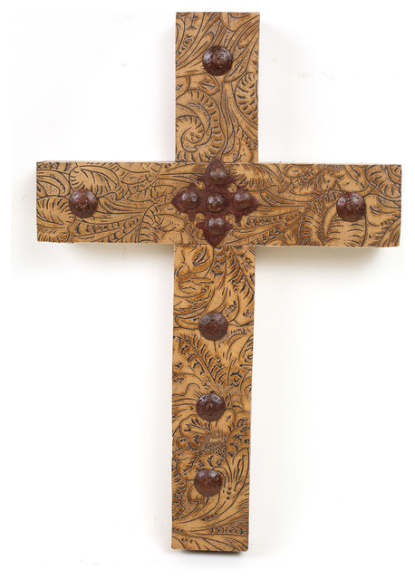 Rancho Adobe Tooled Leather Cross